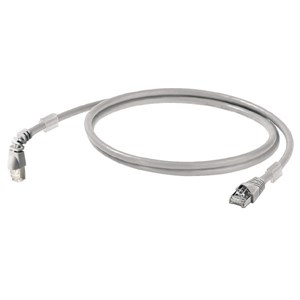 Cat6A 10m   Angled Patch Lead Grey