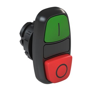 Ext. Double Pushbutton, IP66 - I/0