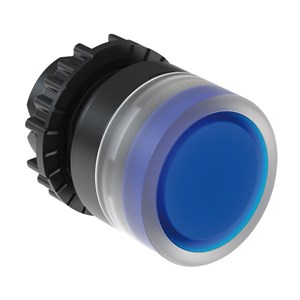 Flush Illum. Pushbutton, IP66 - Blue