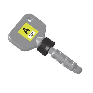 Standard Coded Key A104 - Yellow Fob