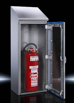 Innovative IP69K Rated, Hygienic Design Fire Extinguisher Enclosure