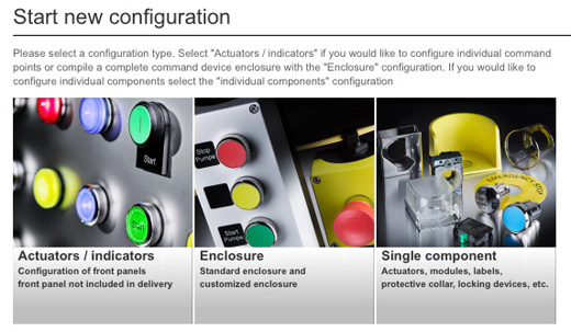 Siemens Configuration Tool - Start New Configuration