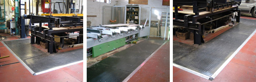 Tapeswitch Safety Mats in Woodworking Machinery Applications