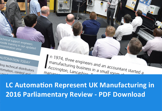 LC Automation represent manufacturing in 2016 Parliamentary Review